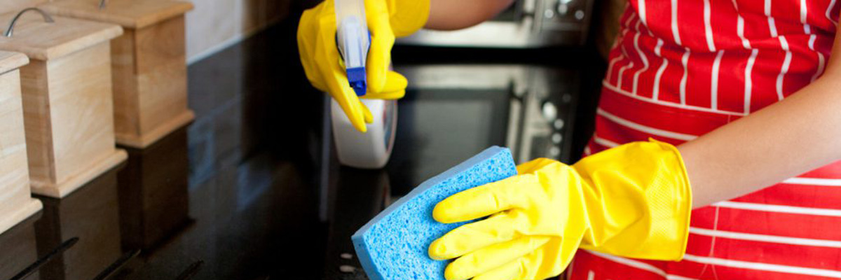 Person Cleaning